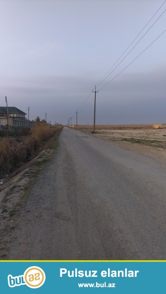 Turkan Qesebesinde asfalt yolun ustunde 5sot ozume  mexsus olan torpaq sahesi satiram...