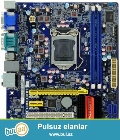 Foxconn H61mxv DDR3 1155 Soket <br /> Patplatani  satiram ucuz hec bir problem yoxdu veya <br /> BARTER EDIREM 600W-700w Blokpitaniya ile<br /> Qiymeti 50 azn <br /> (055) 966-77-21 whatsapp