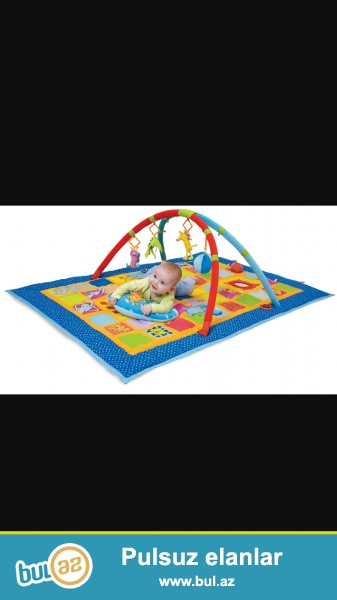 4 игрушки, падушка, самый  большой коврик, в отличном состоянии.