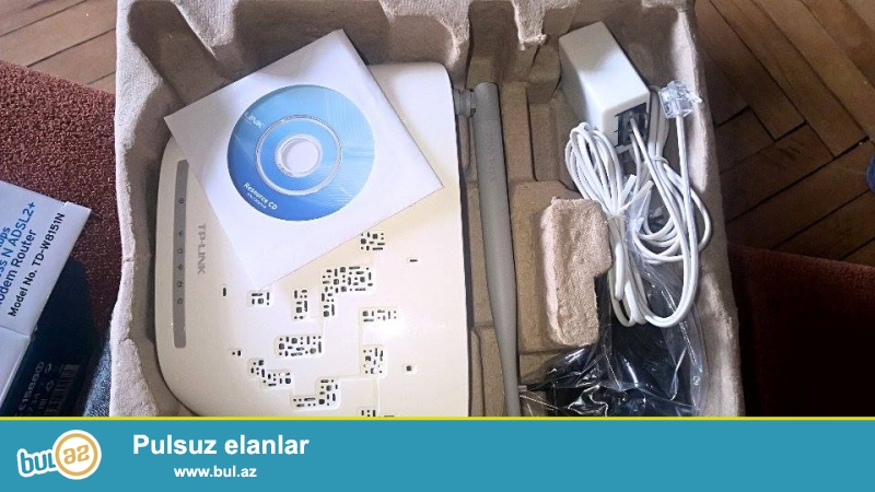 Abv-de 19 Azn olan Tp-Link 1-Port 150 Mbps Modemini 10 azn-ye satiram...