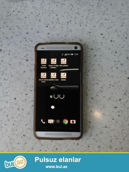 Sələm aleykum. <br /> HTC ONE M7 satıram. Kecen ilin oktyabrında mağazadan almışam...