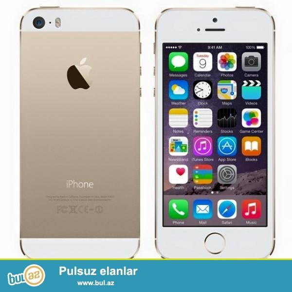 IPhone 5s əla vəziyyətdə ... üstündə adapter nauşnik  Karobka...