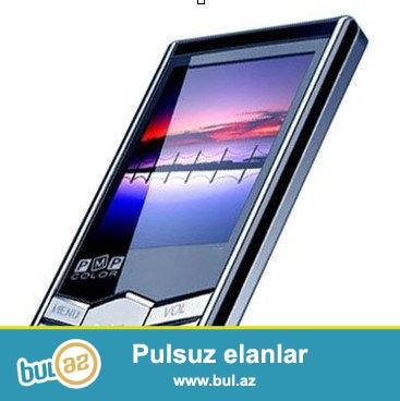 """YENI.ÇATDIRILMA PULSUZ<br />   <br /> 1.8 """"TFT LCD ekran<br />     (JPG, BMP) Şəkillərə baxmaq olar<br />     MP3, WMA, WAV format dəstəkləyir<br />     Video dətəkləyir: çevirmək ÜÇÜN proqram təminatı AMV kinosu formatında yükləmə AMV format<br />     Təkrarlama rejimi: Normal, bir təkrar, Bütün faylları təkrarlama, Random və Intro təkrar<br />     Ekvalayzer ayarları: DBBDisplay ID3 Mahnı adı və Mahnı Sözləri və Təbii, Rock, Pop, Classic, Soft, Jazz<br />     Daxili FM Radio<br />     Digital Qeyd: inteqrasiya mikrofon ilə qeydlər<br />     Ultra-High Quality Stereo səs<br />     1000 Mahnı Tutumu<br />     Faylları komputerdə idarə etmə funksiyası<br />     Daxili doldurulan lityum batareya<br />      <br />     Daxili 16GB High Speed Flash yaddaş<br />      <br />     Daxili USB 2..."""