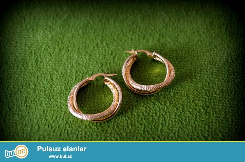 qizil sirgalar eyyar 585 ceki 3,2 turkiye istehsali firma kocak yenidir birkasi ustunde watsapp nomre 050 489 30 36