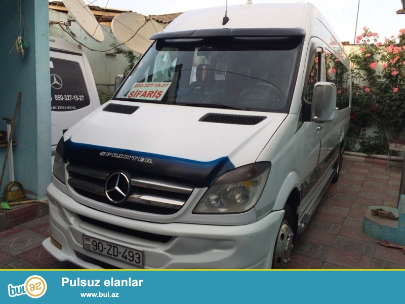 Mercedes Benz Sprinter..20 neferlik.2009cu il Full salon...