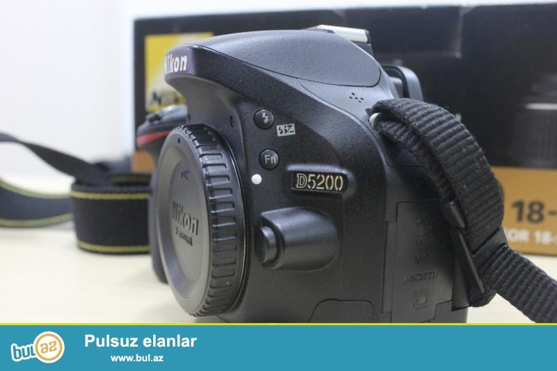 Nikon D5200(pr2595)+70-300 mm VR<br /> zemanet+canta+16Gb sd ultra class10-850azn<br /> Ust seviyye Canon ve Nikonla barter mumkundu...
