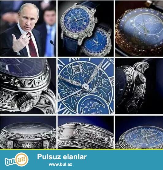 """Patek Philippe Sky Moon""<br /> Qutu+Passport+Paket+ 1 il zemanet..."