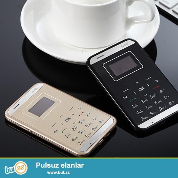 YENI ORIGINAL.Qeydiyyat olunub.<br /> ÇATDIRILMA PULSUZ<br /> Dizayn:bar<br /> Cellular:GSM<br /> Ekran rejimi:480x320<br /> Screen LCD növü:TFT<br /> SIM kart sayı: 1 NÖRƏLİ<br /> Yayın tarixi:2015<br /> Band rejimi:1SIM / Single-Band<br /> Durmadan danışıq vaxtı:5saat<br /> Digər funksialar:FM Radio, MP3 Playback, QWERTY klaviatura, Bluetooth, Yaddaş kartı dəstəkləyir, Mesaj<br /> Batareya növü:Çıkarılabilir deyil<br /> Vəziyyəti:yeni<br /> Tutumu (mAh):350mAh<br /> Dil:Rus, alman, fransız, ispan İngilis, Polyak, Portuqal, İtalyan<br /> Ölçü:85 * 55 * 6...