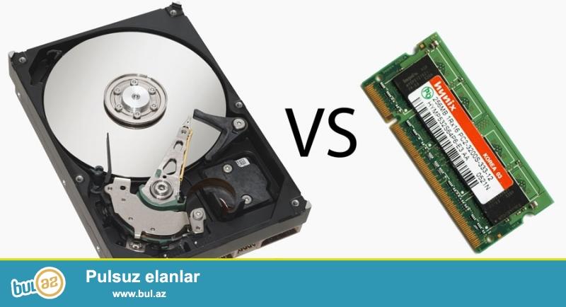 salam HDD ( hard disk ) ve ram satiram<br /> persanalni <br /> HDD-500 Qb   40 manat<br /> Ram -4 Qb   30 manat<br /> 055...