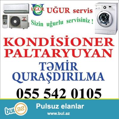 KONDISIONER  ve  PALTARYUYAN  ustasi<br /> (ремонт и обслуживание кондиционеров и стиральных машин)<br /> 050 5461050 Emil (Whats app)<br /> 0705461050<br /> 0555420105