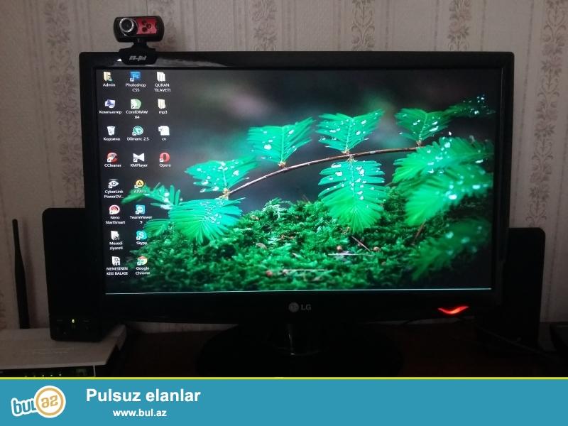 LG monitor 22 ekran.ram 4gb.hdd 500gb.i3.seliqeli veziyyetde ev seraitinde islenib...