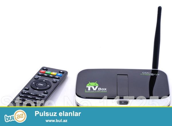 YENİ ANDROİD 4.4 SMART TV BOX +TAÇ KLAVİATURA.<br /> ÇATDIRILMA ŞƏHƏRDAXİLİ PULSUZ...