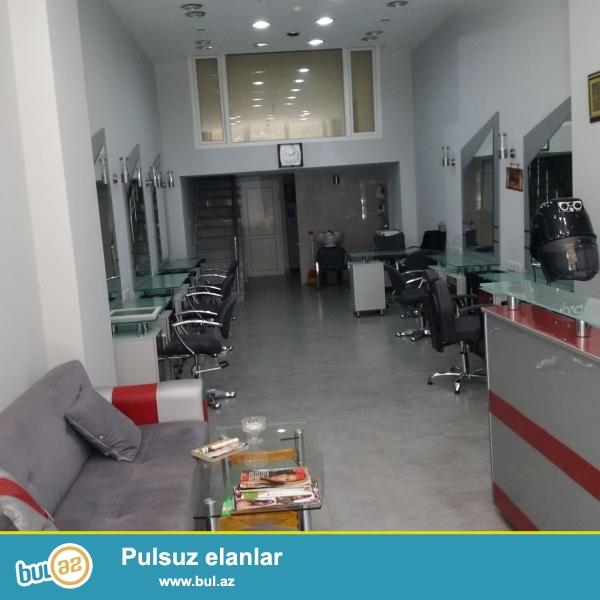 Tecili!!! Bineqedi rayonu,7-ci mikrorayon,S.S.Axundov kucesi yeni tikilmish binanin altinda tam temirli (67 m2) qadin gozellik salonu satilir.
