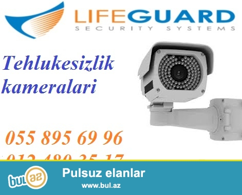 Nəzarət kameraları (gece-gunduz goruntü). Iş və ya evə nəzarət...