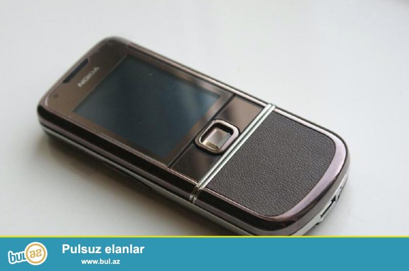 Nokia 8800 Arte Sapphire Arte Brown satilir. Telefon ideal veziyyetdedi, cox seliqeli istifade edilib, tezeden secilmir...