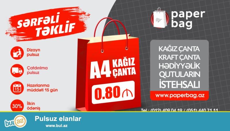 1000 əd A4 kağız çanta - sifariş verdiyinizdə 0...
