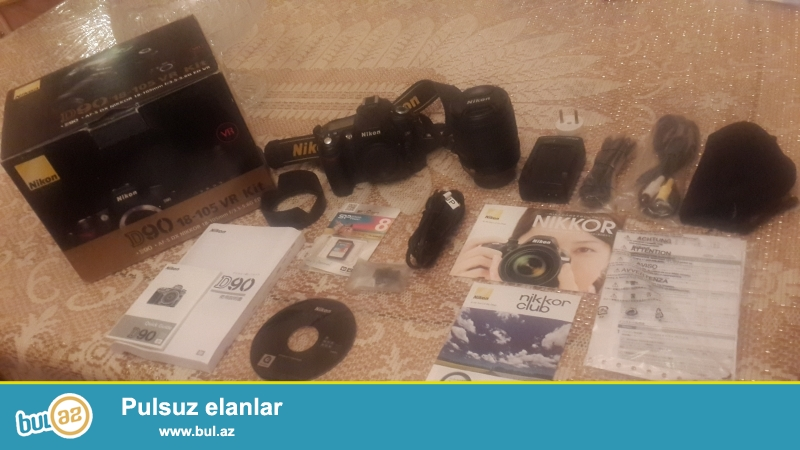Nikon D90 satilir<br /> Yenisinden ferqlenmir,ela veziyetdedir<br /> Cekilish 2500 kadra yaxindir<br /> O dan mendedir,hediyye olaraq alinib fotomarketden...