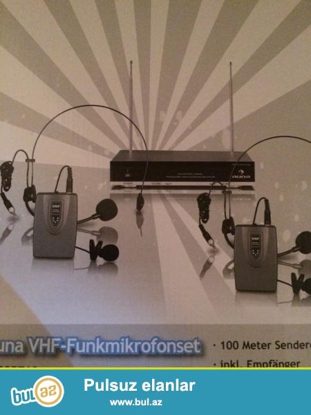 VHF simsiz mikrafon satilir. Təzədir. Özüm İngiltərədən gətirmisəm. Almaniya istehsalidi...