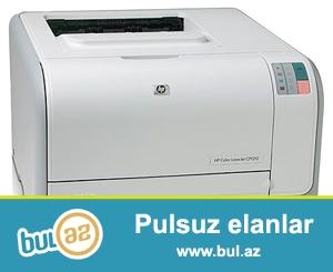 Printer HPLaserJet CP1215<br /> Ela veziyyetde, cox az ishlenib,<br /> Bazar qiymetinden cox ucuz.