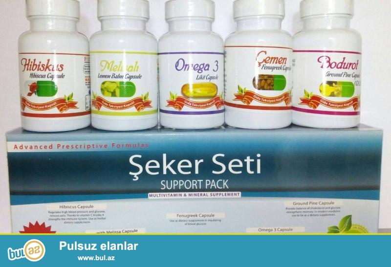 Şəkər xəstələri üçün Türkiyənin mütəşəm, şəkər    seti satılır...