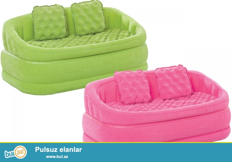 Надувной диван intex 68573 изготовлен из современных и высококачественных материалов, верхняя и боковые части имеют флокированное покрытие...