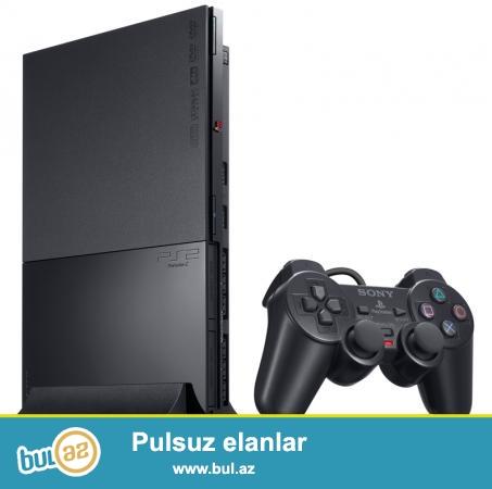 PS-2 + original pult+disklər əla vəziyyətdə