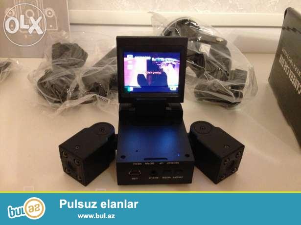 Hem salonu ,hem de yolu ceken iki kamerali videoregistrator ,xarici olkeden birbasa getirilir Azerbaycana...