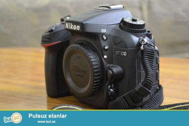 Satilir Nikon D7100(pr-20min)+grip+4gb+16gb kart<br /> Aparat tezeden secilmir ela veziyyetdedi seliqeli isledilib<br /> 2 ayin aparatidi ideal veziyyetdedi alan uduzmaz <br /> Qiymet 700Azn sondu qiymete gore narahat etmeyin