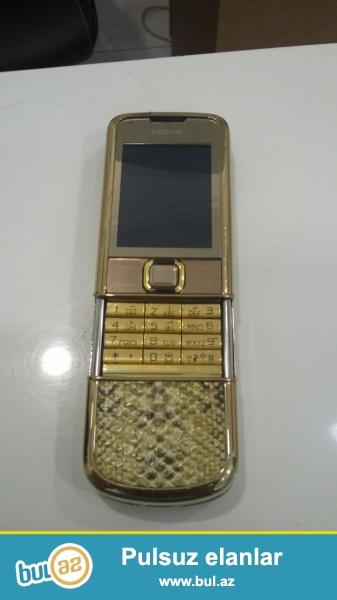 Nokia 8800 saphire Satılır.Təmirdə olmayıb.1 il zəmanət  və bütün aksesuarlar verilir