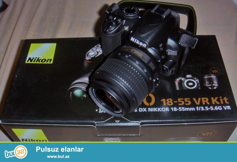 Nikon SLR D3100 Kit (18-55)<br /> ancag aparatin qiymetidi...