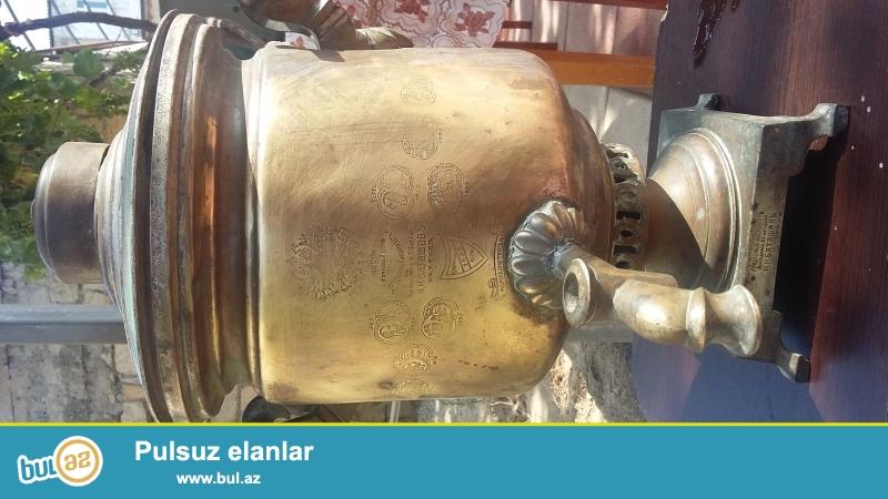 əntiq samovar 1850 il 5 litir tutarlı 16 peçat 14ü gümüş 2si qızıl