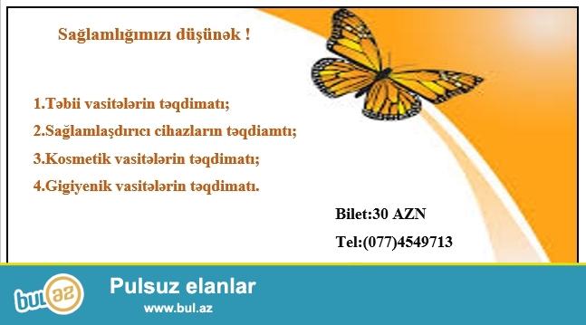 """20.07.2015-ci il tarixindən etibarən """"Sağlamlığımız düşünək"""" təqdimat günləri keçirilir..."""