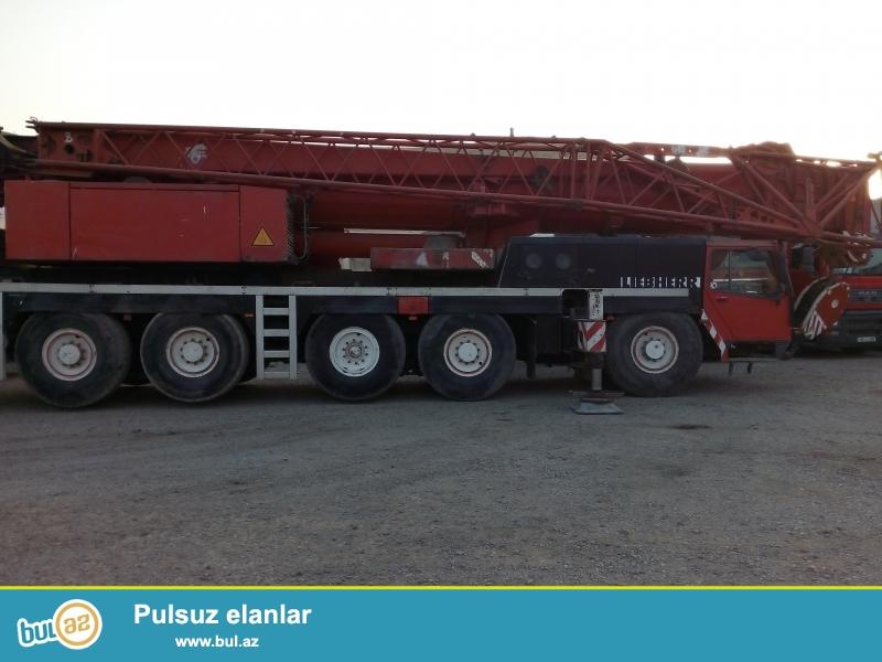 Kranın markası: Liebherr LTM1160/2<br /> Yük qaldırma parametri: 160 Ton...