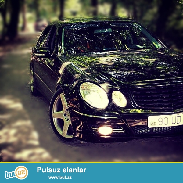W211 2008 model 3.5 avanqard tam orginal atxa ve qabag bufer...