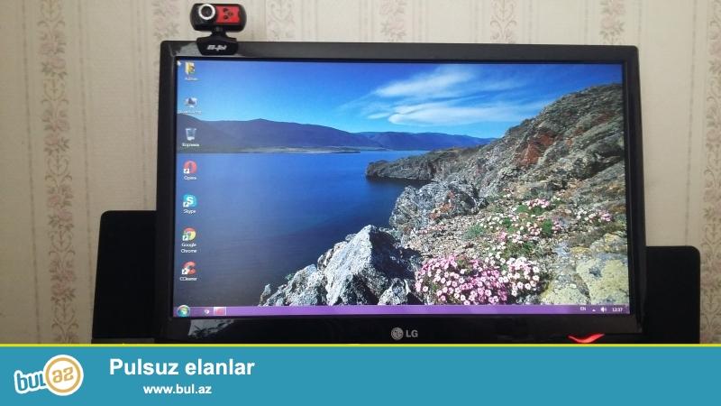 LG monitor 22 ekran.ram 4gb.hdd 500gb.i3.videokarta 2  seliqeli veziyyetde ev seraitinde islenib...
