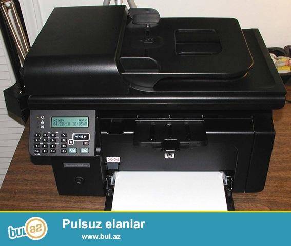 Az işlənmiş printer HP Lasercet M1212. 1 ədəd dolu kartrici var.