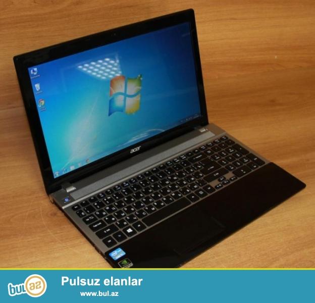 Acer Aspire V3-571G Noutbuku satiram. Parametrleri: Ram: 4 Video Kart: 1 Yaddas: 500 GB Prosessor: i3 Ekran: 15...