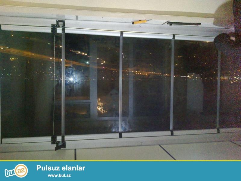 Cam balkon sifarişi 1 kv.m-130man.10 mm temper şüşə və Altim türk profil və aksesuarlardan istfadə olunur ...