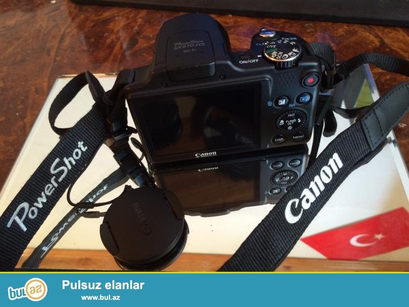 Canon Power-Shot Sx510Hs fotoaparati tezedi az istifade olunub hec bir problemi yoxdu , seliqeli istifade olunub  hec bir problem olmadigina 100% zemanet ,real aliciya endirim etmek olar
