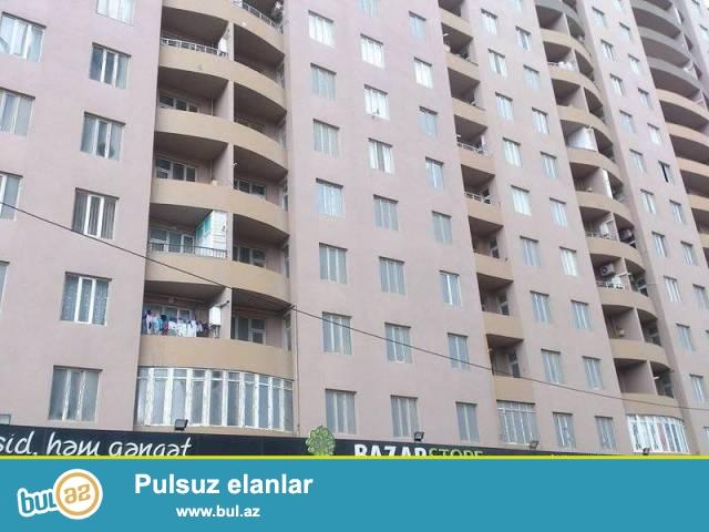 """Сабаилський район,  в пос. Патамдарт, над маркетом """"Endi"""" в полностью заселённой новостройке продаётся 3-х комнатная квартира вместе с мебелью..."""