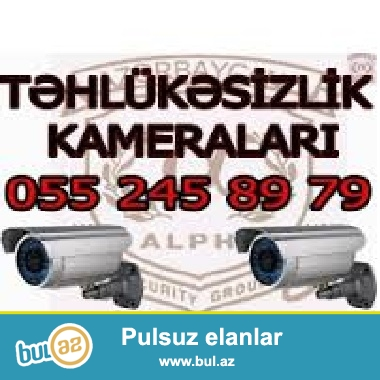 Tehlukesizlik kameralari<br /> <br /> Tehlukesizlik kameralari sisteminin qurasdirildigi eraziler her zaman vizual nezaret altindadir...