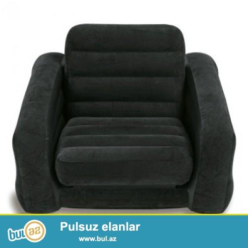 Надувное кресло-кровать Intex 68565, 109х218х66 Надувное кресло-трансформер Intex 68565 отличается удобством и комфортом, и при этом имеет современный внешний вид...