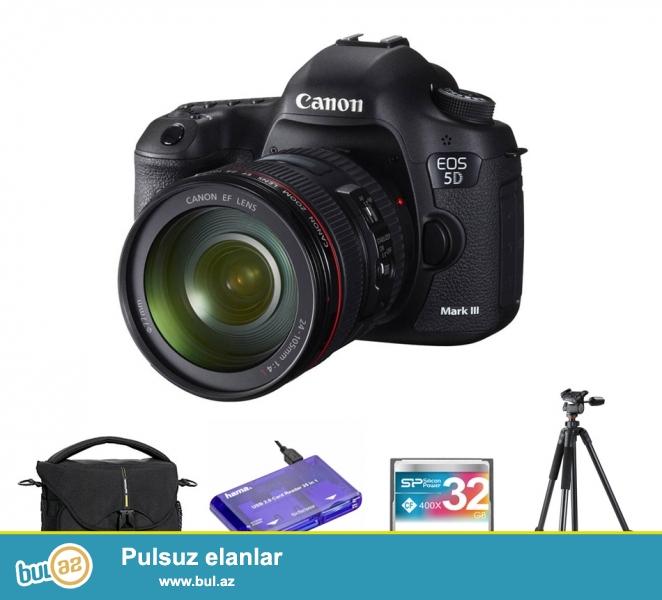 Canon EOS 5D Mark III Kit 24-105mm(kit obyektiv). Cəmi 5-6 çəkilişdə istifadə olunub...