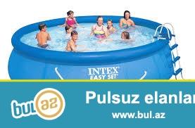 Надувной бассейн Intex 56409, 457 см х 107 см...