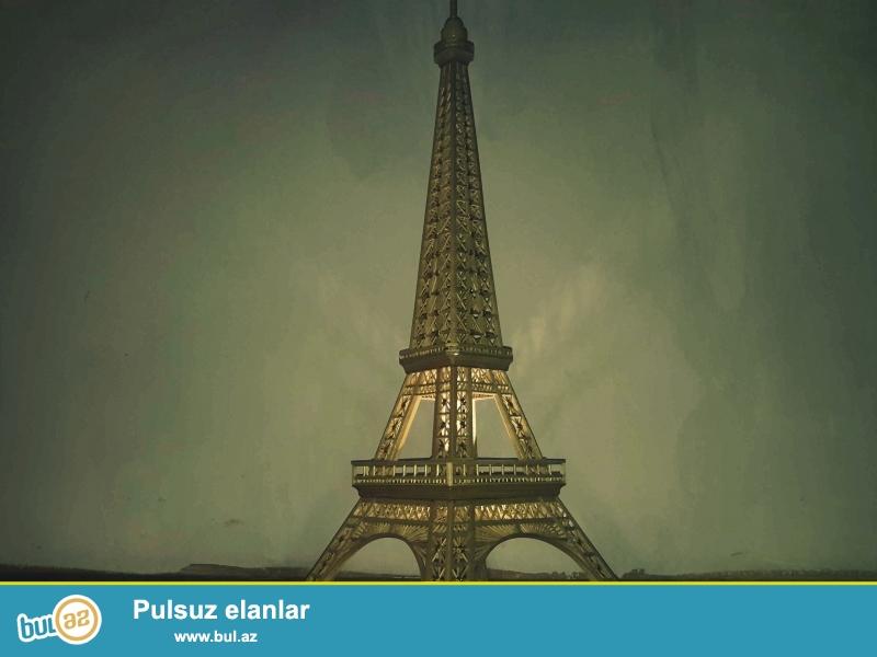 Agacdan Eiffel :<br /> <br /> Hazirlanmasi - 3 ay<br /> <br /> Ağac Növü Qoz Ağaci<br /> <br /> Qiymeti Razilasma yolu ilə
