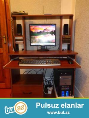 Avadanlıq -<br /> Monitor: Samsung.<br /> Keys, klaviyatura, maus və səs kalonkaları: Genius...