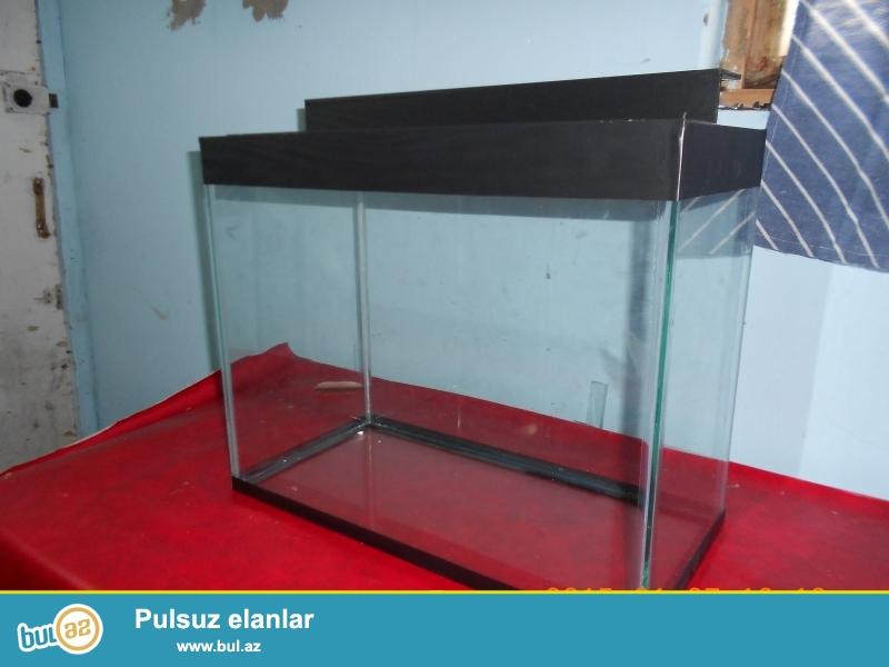 akvarium 50 litre qapaqli <br /> uzunu 50 sm <br /> hundurluyu 44sm<br /> eni    25sm  <br /> bawqa olculerdede var