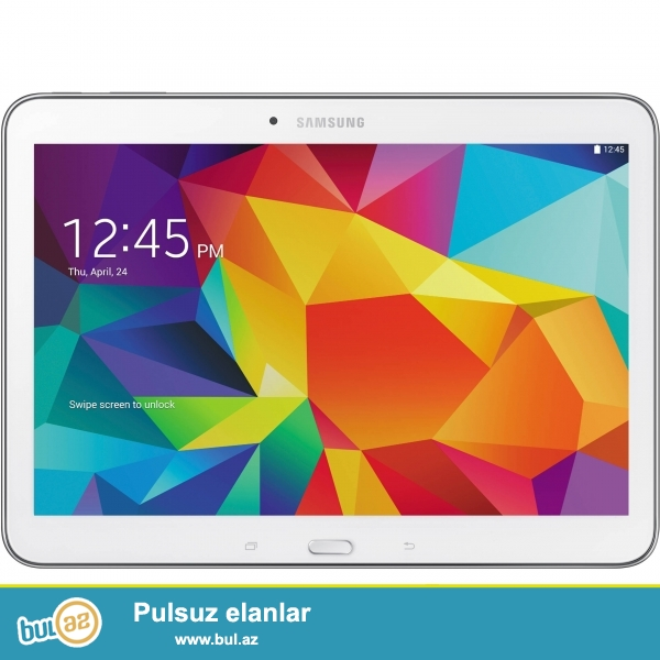 Samsung Tab 4 T535 4G-ile <br /> Prosessor - Quad Core 1.2GHz <br /> Daxili yaddas - 16GB <br /> Ram - 1,5GB <br /> Arxa Kamera- 3,1MP <br /> Ön Kamera- 1,3MP <br /> Ekran - 10,1 (1280x800) <br /> Sebeke - 4G <br /> Reng - Ag <br /> Qiymət - 370m <br /> Nömrə gedir, telefon kimi işləyir <br /> Təzə, bağlı qutuda<br /> <br /> (050) 222-72-18 <br /> (051) 726-96-06