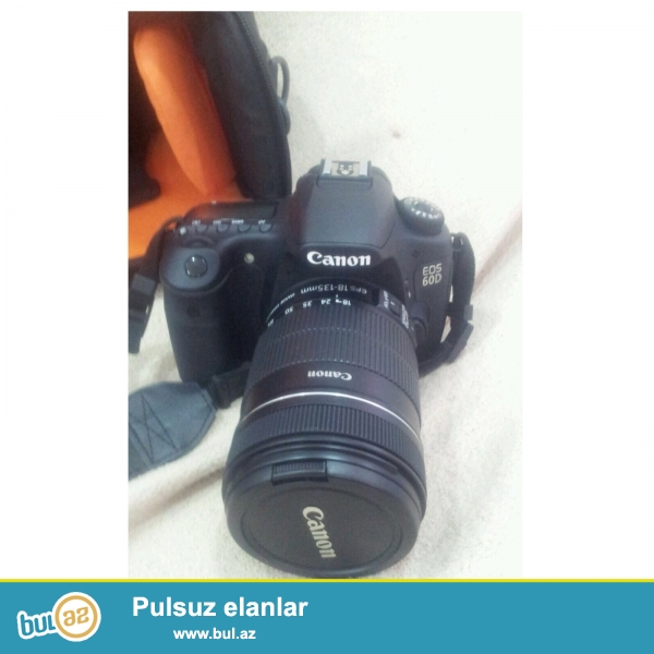 fotoapparat Canon Eos 60D satiram. Demek olarki islenmeyib...