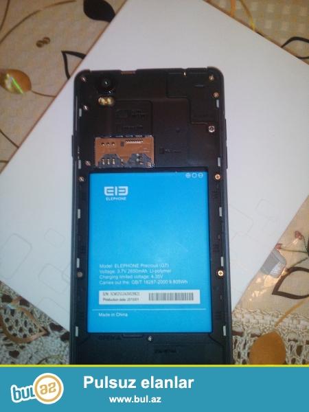 Elephone G7 satıram təzədir Orginaldır.<br /> <br /> Parametrləri:<br /> <br /> Adı: Elephone G7<br /> <br /> Processor:  8 nüvəli<br /> <br /> Ekran:  5,5  düym<br /> <br /> Sim kart:  2 yerli  SİM+microSim<br /> <br /> Ram:   1GB<br /> <br /> Daxili Yaddaş:  8GB<br /> <br /> Cpu:  MTK 6592 Octa Core<br /> <br /> Batareya:  2650mah<br /> <br /> Kamera:  Arxa 13 MP  ön  8 Mb<br /> <br /> Android  4...